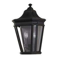 Half Wall Lantern, Die-Cast Aluminium, Black