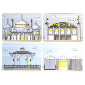 Assorted Brighton Placemats, Set of 4