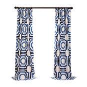 "Mecca Printed Cotton Curtain Single Panel, 50""x120"""