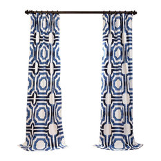 "Mecca Printed Cotton Curtain Single Panel, 50""x120"""