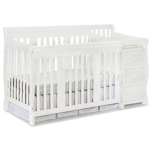 Storkcraft Princess 4 In 1 Convertible Crib White Transitional