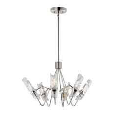 Maxim Milano 6-Light Chandelier 39555CLPN, Polished Nickel