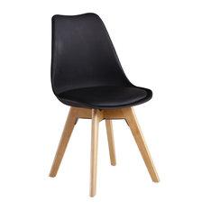 Jamie Tulip Dining Chair, Black
