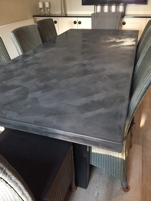 2.2 Metre Dark Charcoal Polished Concrete Table   Products