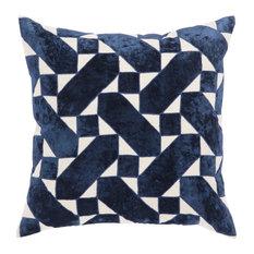 "Nikki Chu by Jaipur Living Danceteria Blue/Ivory Down Throw Pillow 22"""