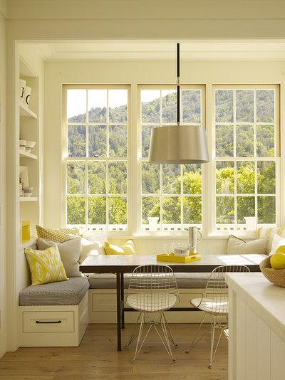 Contemporary Kitchen Bay window kitchen nook