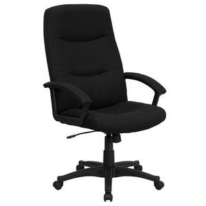 High Back Fabric Executive Swivel Office Chair, Black