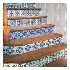 Portuguese Tile Stencil Set, Portuguese Tile Stencils, DIY Faux Tiles, Small