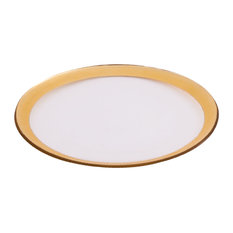 Elk Lifestyle Gold Foil Clear Glass Saucer Without Snowflake PLT06