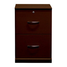 Gothic Furniture   Flat Iron File Cabinet With Two Drawers, Antique Cherry    Filing Cabinets