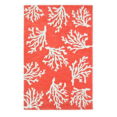 Addison Beaches Coastal Coral Coral Reef Area Rug, Coral Reef, 8'x10'
