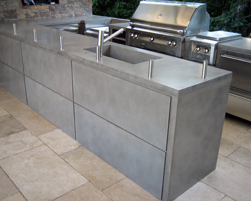 Outdoor Concrete Countertops Houzz