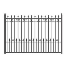 ALEKO - Aleko St Petersburg Style DIY Iron Wrought Steel Fence, 5'x5' - Home Fencing and Gates