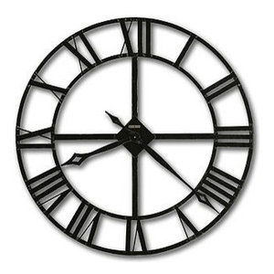 """Howard Miller Lacy 32"""" Wrought Iron Wall Clock"""