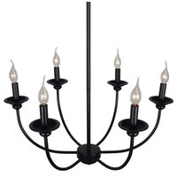 Industrial Candle Chandelier Lighting, 9-Light