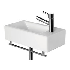 50 Most Popular Contemporary Wall Mount Bathroom Sinks For 2019 Houzz