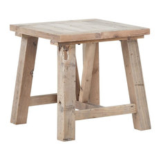 Reclaimed Wood Lamp Table