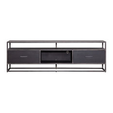 Black Wooden Media Unit Large Eleonora Hudson