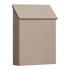 Traditional Mailbox, Standard, Vertical Style, Beige