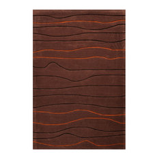 Lawrence Hand-Tufted Rug, Brown, 140x200 cm