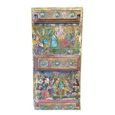 Mogul Interior - Consigned Doors Hindu God Hand-Painted Barn Door - Interior Doors