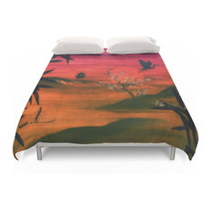 Society6 Oriental Sunset Duvet Cover King Covers And Sets