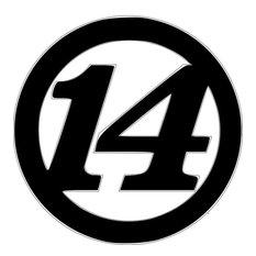 Tony Stewart # 14 Yard Stake 3' Tall