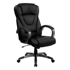Admirable High Back Black Leather Executive Office Chair Todays Interior Design Ideas Clesiryabchikinfo