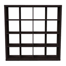 Modern Display Shelving Unit, MDF With Multiple Open Compartments