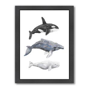 """Whale Painting Trio 1,"" Art Print, 9""x11""x1"""