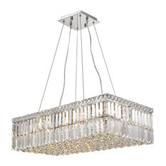 Art deco chandeliers houzz crystal lighting palace modern art deco style 16 light chrome clear crystal rectangle chandelier aloadofball Images