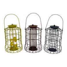 Garden Selection - Squirrel Proof Bird Feeders, 3-Piece Set - Bird Feeders