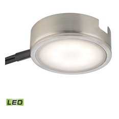 Tuxedo 1-Light Led Undercabinet Light, Satin Nickel With Power Cord And Plug