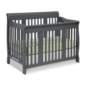 Stork Craft Tuscany 4-in-1 Convertible Crib in Gray