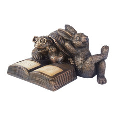 Smart Living 3648WRM1 Reading Tortoise and Hare Solar Statue