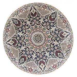 Nain 9La Oriental Rug, Round Hand-Knotted, 207x205 cm