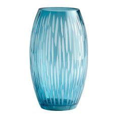 Etched Blue Vase