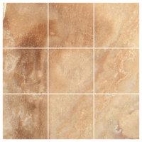"4""x4"" Crema Caramel Onyx Polished Wall and Floor Tiles, Set of 9"