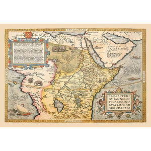 """Map of Northeastern Africa - Framed Paper Poster 20"""" x 30"""""""