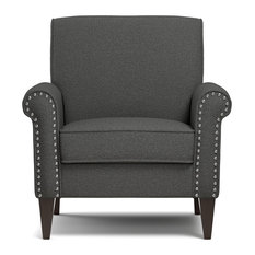Bay   Fortuna Armchair, Charcoal   Armchairs And Accent Chairs