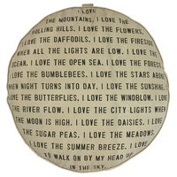 Floor Pouf - I Love the Mountains with Dots