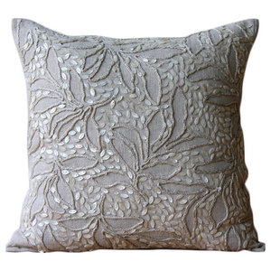 Pearl Divine, Beige Cotton Linen 45x45 Cushion Covers Decorative