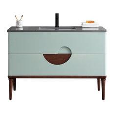 "Burano 48"" Aloe Green Freestanding Modern Bathroom Vanity"
