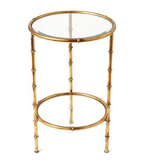 Iron Bamboo Table Antique Gold