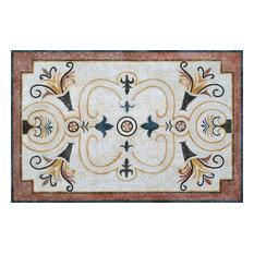 "Simple Floral Mosaic Rug, 41""x59"""
