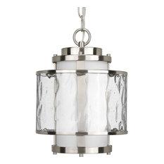 1-Light Hanging Lantern, Brushed Nickel