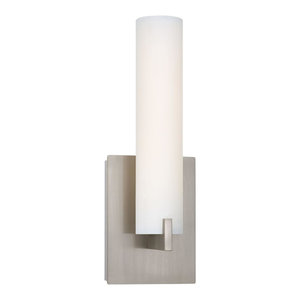 George Kovacs Tube Wall Sconce, Nickel