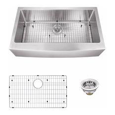 """Undermount 32.87"""" Apron Front 16-Gauge Stainless Steel Kitchen Sink"""