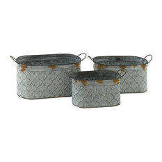 Guiselle Metal Planters, Set of 3