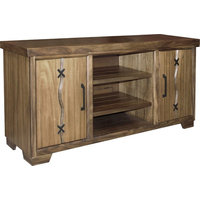 """Parker House Sequoia SEQ#63 63"""" TV Console in Burnished Honey"""
